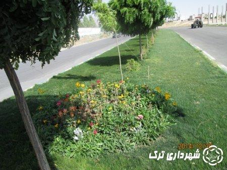 تعمیر و باز سازی بلوار امام خمینی ورودی شهر