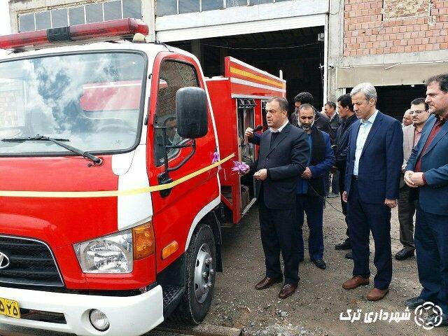 رونمایی از خودرو جدید آتشنشانی
