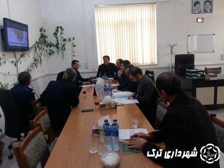جلسه کمیته فنی کمیسیون ماده 5 در شهرداری ترک