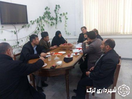 جلسه شهردارترک و هیئت امنای آرمستان شهر ترک